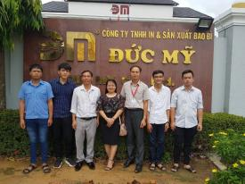 Trường Cao đẳng CTIM đưa sinh viên khoa Công nghệ khóa 19 đến Công ty TNHH In và Sản xuất Bao bì Đức Mỹ thực tập cuối khóa