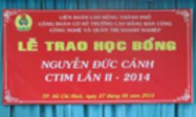 Lễ trao học bổng Nguyễn Đức Cảnh lần II năm 2014