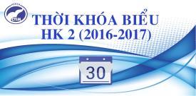 TKB sinh viên Cao đẳng chính quy Khóa 17 và Khóa 18 HK 2 năm học 2016-2017