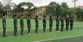 Một số hình ảnh trong tuần đầu học Giáo dục quốc phòng Khóa 223