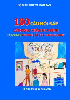 100 câu hỏi - đáp về phòng chống dịch bệnh COVID-19 trong các cơ sở giáo dục
