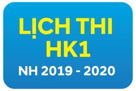 Lịch thi HKI năm học 2019-2020