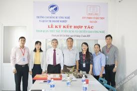 Công ty TNHH Cơ khí TMDV Đại Lộc ký kết hợp tác tuyển dụng và thực tập với Cao đẳng CTIM