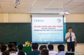 Đại học Kinh tế TP.HCM gặp gỡ và hướng dẫn các bạn Tân sinh viên K22 quy trình học liên thông sau khi tốt nghiệp tại Cao đẳng CTIM