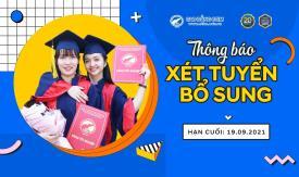 Thông báo Xét tuyển bổ sung Cao đẳng chính quy 2021