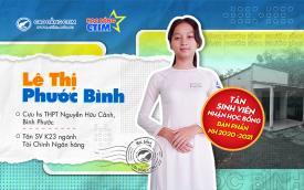 Chúc mừng tân SV Lê Thị Phước Bình nhận học bổng bán phần niên khóa 2021-2024