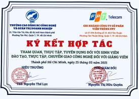 Trường Cao đẳng CTIM Ký kết hợp tác cùng Công ty Cổ phần Viễn thông FPT (FPT Telecom)
